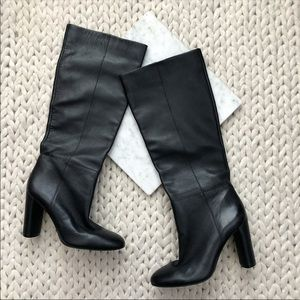 Vince Camuto Femmie Black Knee High Heeled Boots